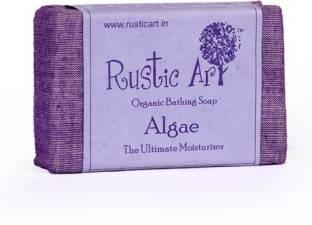 Rustic Art Organic Bathing Soap Algae 100 GM