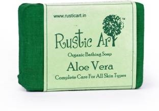 Rustic Art Organic Aloe Vera Soap 100 GM