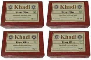 Khadi Kesar Olive Soap 125 GM Pack of 4