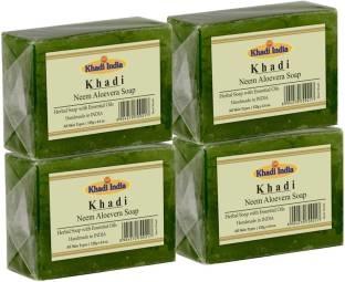 Khadi Neem Aloevera Soap, 125 GM (Set of 4)