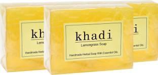 Khadi Lemongrass Soap, 125 GM (Pack of 2)