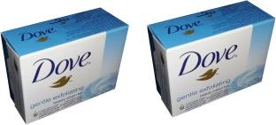 Dove Gentle Exfoliating Beauty Cream Bar, 100 GM (Pack of 2)