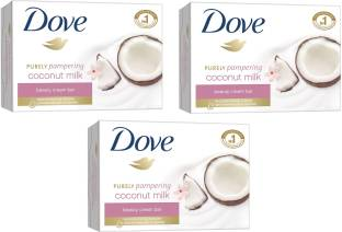 Dove Imported (Made In EU) Purely Pampering Coconut Milk Beauty Cream Bar(135 g, Pack of 3)
