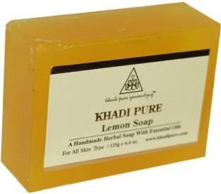 Khadi Pure Herbal Lemon Soap, 125 GM
