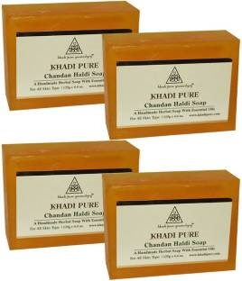 Khadi Pure Chandan Haldi Soap 125 GM Pack of 4
