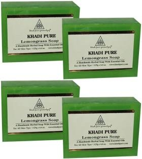 Khadi Pure Lemongrass Soap 125 GM Pack of 4
