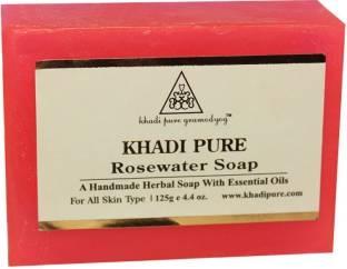 Khadi Pure Herbal Rose Water Soap, 125 GM