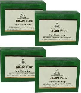 Khadi Pure Neem Herbal Soap 125 GM Pack of 4