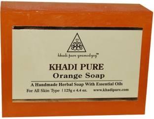 Khadi Pure Orange Soap, 125 GM