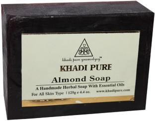 Khadi Pure Herbal Almond Soap, 125 GM