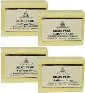 Khadi Pure Saffron Soap 125 GM Pack of 4
