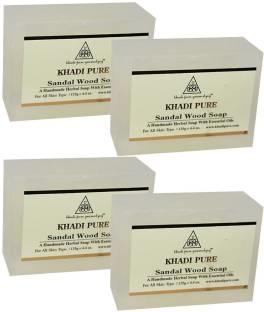 Khadi Pure Sandalwood Soap, 125 GM (Pack of 4)