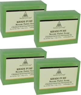 Khadi Pure Herbal Neem Tulsi Soap, 125g (Set of 4)