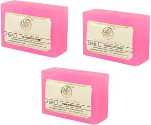 Khadi Natural Rosewater Soap, 125 GM (Pack of 3)