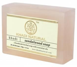 Khadi Pure Sandalwood Soap, 125 GM (Pack of 3)