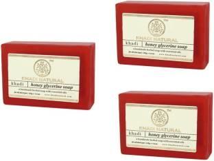 Khadi Natural Honey Glycerin Soap 125 GM Pack of 3