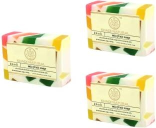 Khadi Mix Fruit Soap, 125 GM (Pack of 3)