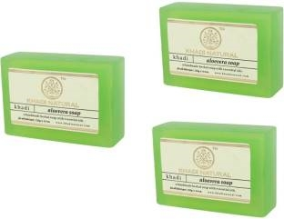 Khadi Aloevera Soap, 125 GM (Pack of 3)