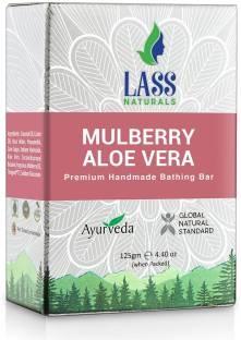 Lass Naturals Mulberry Aloe Vera Premium Handmade Bathing Bar, 125 GM