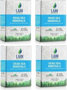 Lass Naturals Dead Sea & Mineral Handmade Natural Soap With Skin Cleansing & Softening Properties 125 GM Pack of 4