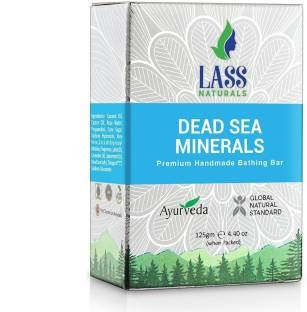 Lass Naturals Dead Sea & Mineral Handmade Natural Soap With Skin Cleansing & Softening Properties, 125 GM