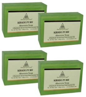 Khadi Pure Herbal Aloevera Soap 125 GM Pack of 4