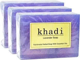Khadi Lavender Soap, 125 GM (Pack of 3)