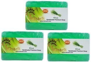 Khadi Khus Handmade Premium Soap 125 GM Pack of 3
