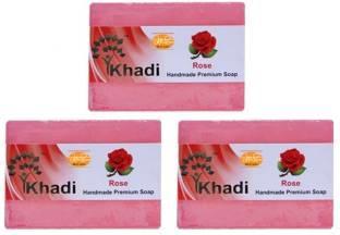 Khadi Premium Quality Rose Soap, 125 GM (Pack Of 3)