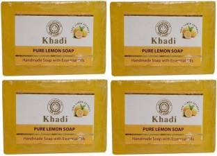 Khadi Herbal Lemon Soap, 125 GM (Pack of 4)