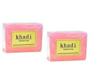Khadi Strawberry Soap, 125 GM (Pack of 2)
