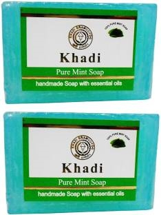 Khadi Pure Mint Soap, 125 GM (Pack of 2)
