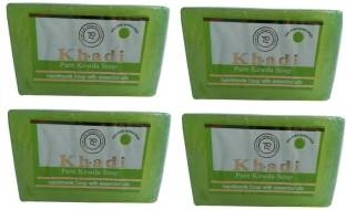 Khadi Pure Kewra Soap, 125 GM (Pack of 4)