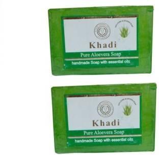 Khadi Pure Aloevera Soap 125 GM Pack of 2