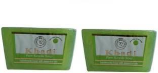 Khadi Pure Kewra Soap, 125 GM (Pack of 2)