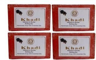 Khadi Shikakai & Reetha Bathing Bar 125 GM Pack of 4
