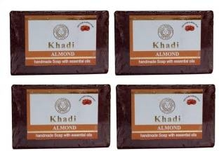 Khadi Almond Soap, 125 GM (Pack of 4)