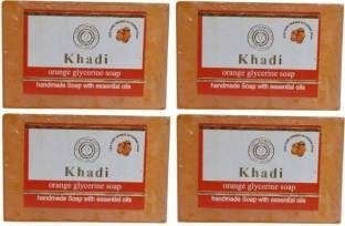 Khadi Orange Glycerine Soap, 125 GM (Pack of 4)