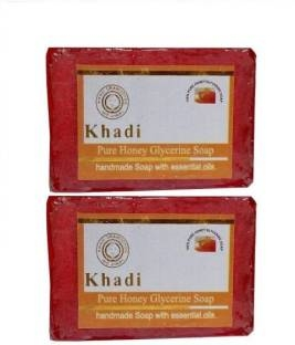 Khadi Pure Herbal Honey Glycerin Soap 125 GM Pack of 2