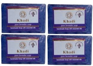 Khadi Herbal NaturalPure Lavender Soap 125 GM Pack of 4