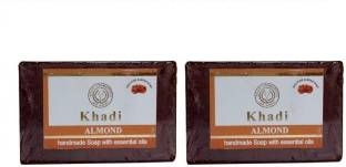Khadi Almond Soap, 125 GM (Pack of 2)