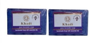 Khadi Pure Lavender Soap 125 GM Pack of 2
