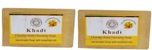Khadi Chandan Haldi Glycerine Soap, 125 GM (Pack of 2)