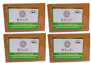 Khadi Lemon Grass Soap, 125 GM (Pack of 4)