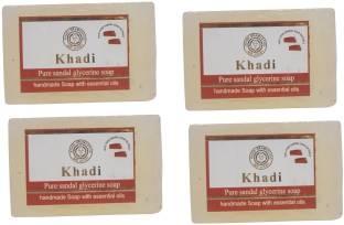Khadi Sandal Soap, 125 GM (Pack of 4)
