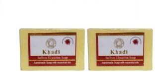 Khadi Saffron Glycerine Soap, 125 GM (Pack of 2)