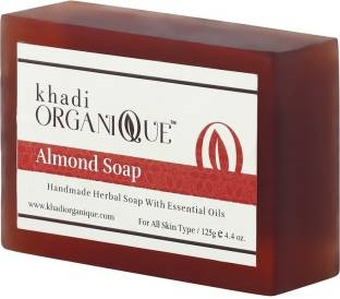 Khadi Organique Almond Soap, 125 GM (Pack of 3)