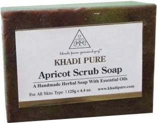Khadi Pure Apricot Scrub Soap 125 GM