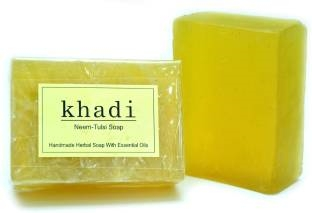 Khadi Neem Tulsi Soap, 125 GM (Pack of 2)