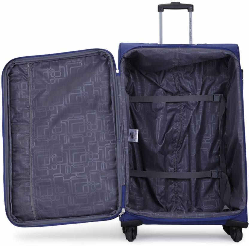 American Tourister Crete Expandable Soft Luggage Strolley 77 cm Blue